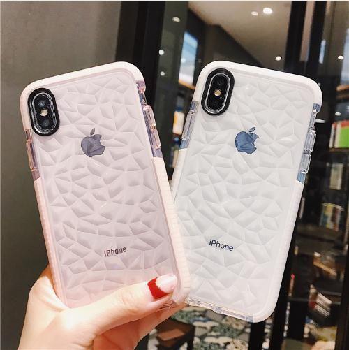3D Diamond Clear Hülle für iPhone 7 6 6S 8 Plus X Soft Shockproof TPU Crystal Clear Ultra-dünner glänzender Fall für iPhone6