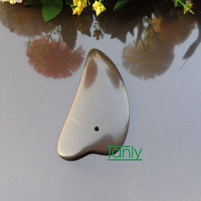 5A класс оригинальный Si Bin Bian камень массаж гуаша комплект красоты лицевой панели треугольник форма 90x45x10mm