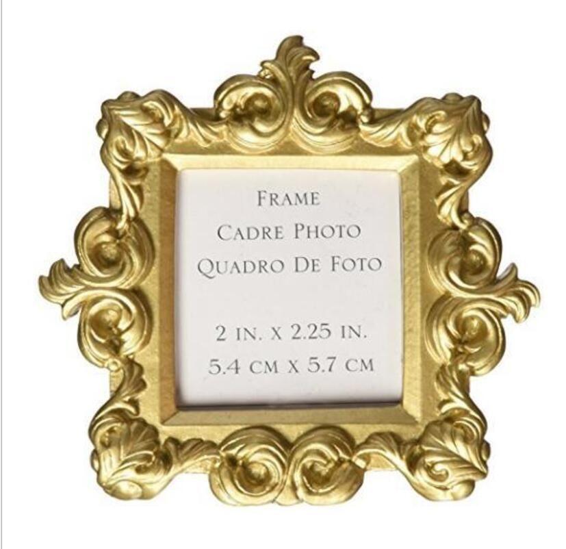 Mini cornice per foto in oro barocco da 10 pezzi per matrimonio Baby Shower Party Compleanno Bomboniere Souvenir Souvenir
