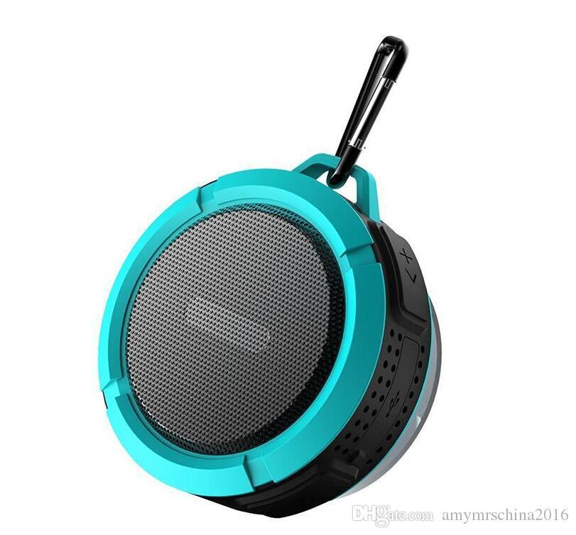 C6 IPX7 옥외 스포츠 샤워 휴대용 방수 무선 Bluetooth 스피커 r 지원 셀룰라 전화 카드 4 가지의 색깔