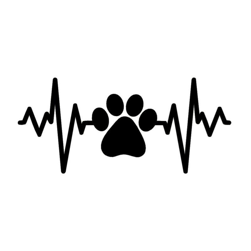 Köpek pençe kalp Cam Sticker Vinil Decal Sticker Sevimli Ve İlginç Moda Sticker Çıkartmaları