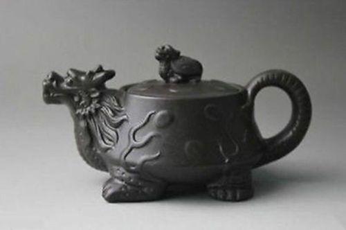 Chinesische Yixing lila Lehm Teekanne Zhini Turtle Dragon Zisha Teekanne