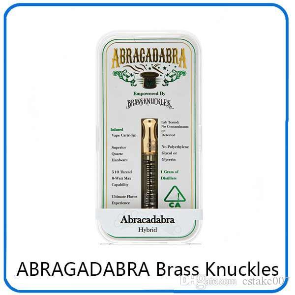 Najnowszy Abragadabra Mosiądz Kneckles Cartridges Atomizers Dual Cotton Cewka 0.5ml 1.0ml Złote ustnik z akrylowym skrzynką 0266215-1