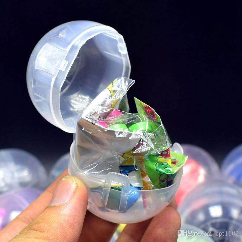 47 * 55 millimetri giocattoli sorpresa trasparente capsula piccola sorpresa per i bambini o regalo di promozione del centro commerciale giocattolo Gashapon trasparente