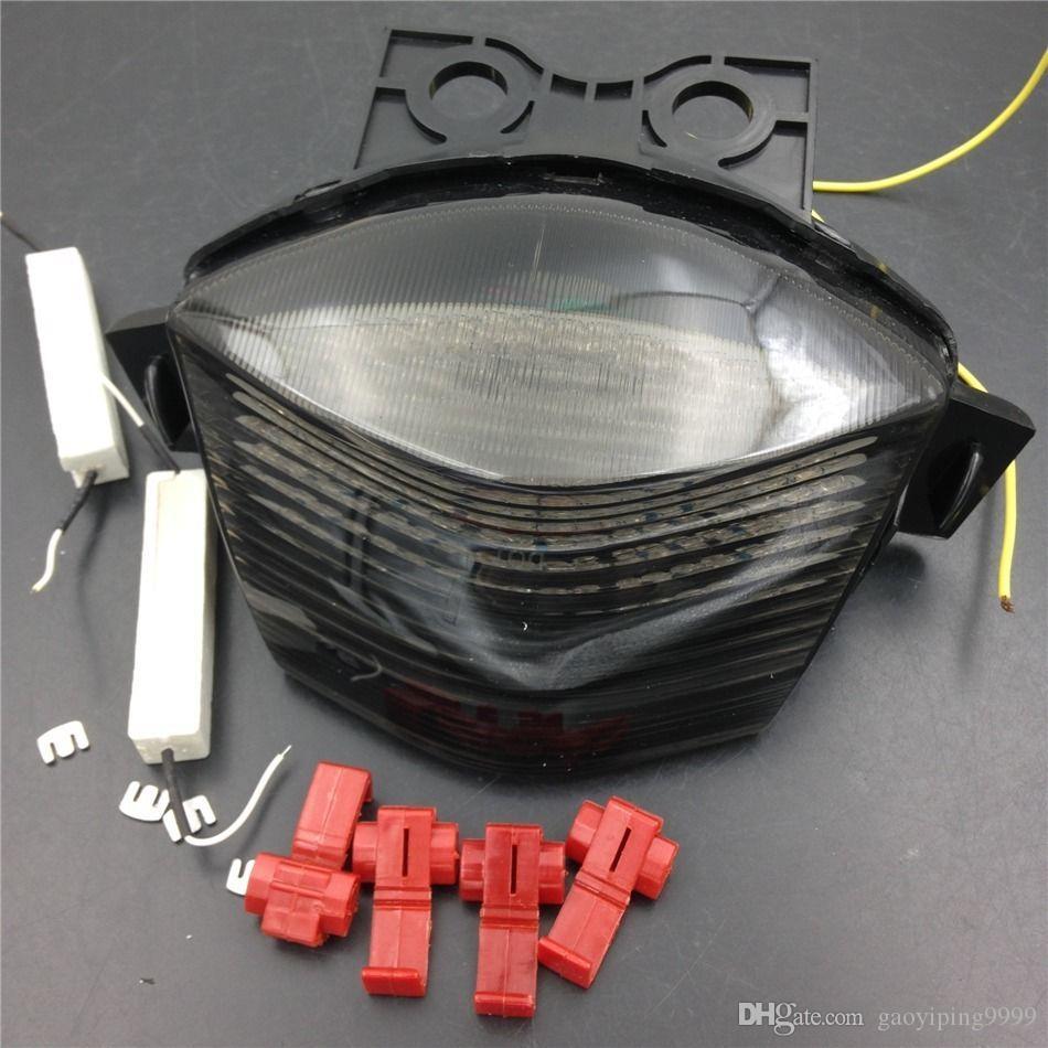Мотоцикл дым LED задний тормоз поворота свет сигнала для Kawasaki Ninja 650R / ZX650 / ZR6F 2006 2007 2008