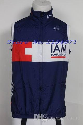 2015 IAM TEAM BLUE Cycling Windproof Vest Ciclismo Clothing Sleeveless Maillot XS-4XL