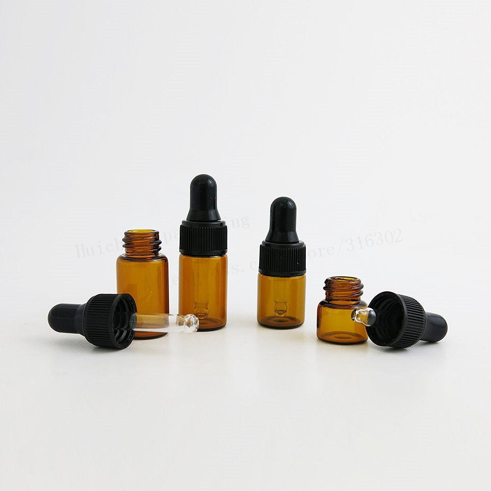 100 × أعلى جودة 1 ملليلتر 2 ملليلتر 3 ملليلتر البسيطة لطيف العنبر زجاج زجاجات بالقطارة الجرار الضروري النفط العطور زجاجات صغيرة محمولة قوارير
