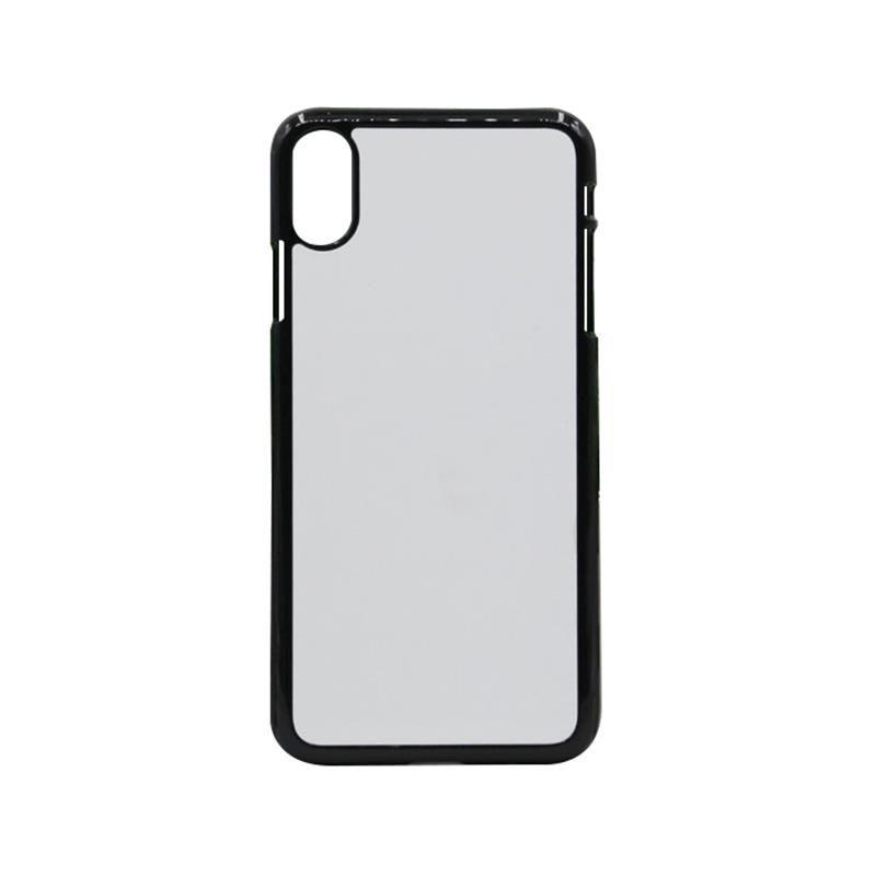 Caso en blanco para el iPhone X XS XS MAX XR 2D sublimación Imprimir dura de la caja del teléfono de plástico con inserto metálico cáscara del teléfono móvil