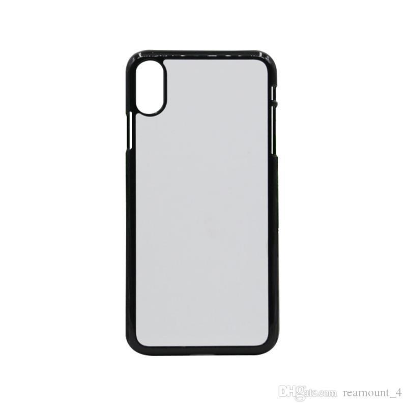 Blank Fall für iPhone X XS MAX XR 2D Sublimationsdruck Hartplastik-Telefon-Kasten mit Metalleinsatz Handy Shell