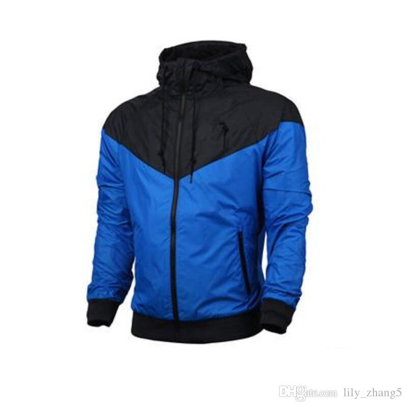 2018 alta calidad envío gratis nuevo hombre primavera otoño chaqueta con capucha hombres mujeres ropa deportiva ropa rompevientos abrigos sudadera chándal