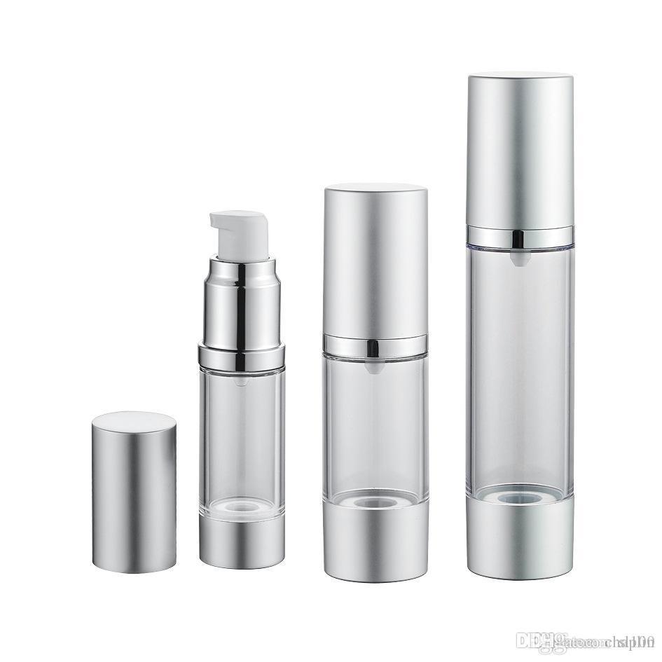15 30 50 ML Airless pompe Bouteille rechargeable Fondations maquillage et cosmétiques Container Sérums légère fuite résistance aux chocs Conteneur