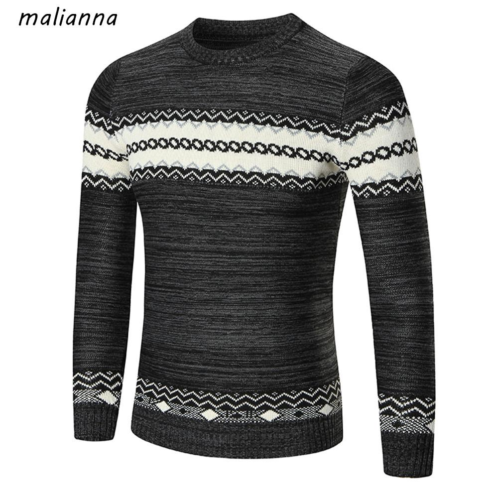 2020 Multi Color Mens Pullover Sweater Coat Long Sleeve O Neck Knitted Casual Cotton Sweaters Men Striped Slim Warm For Men SMJS182 From Kennethy,