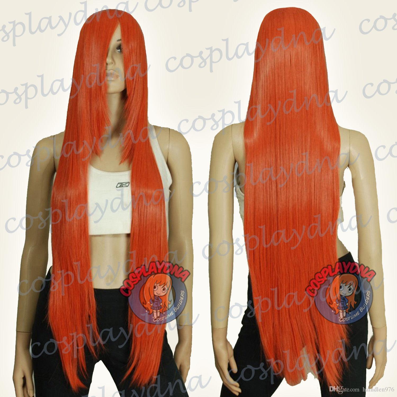 Бесплатно shippingTemp серии оранжевый красный длинные косплей ДНК парики