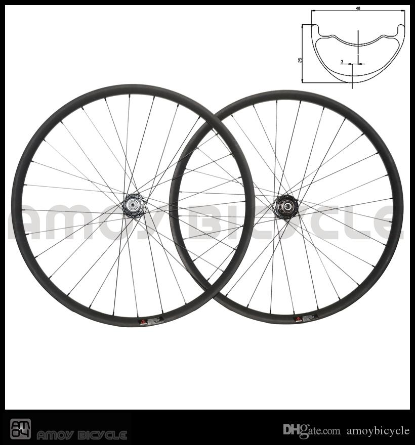 amoy Offset MTB carbon wheelset 29er hookless carbon wheels 40W * 25D XC MTB bike wheels hand mountain wheelset