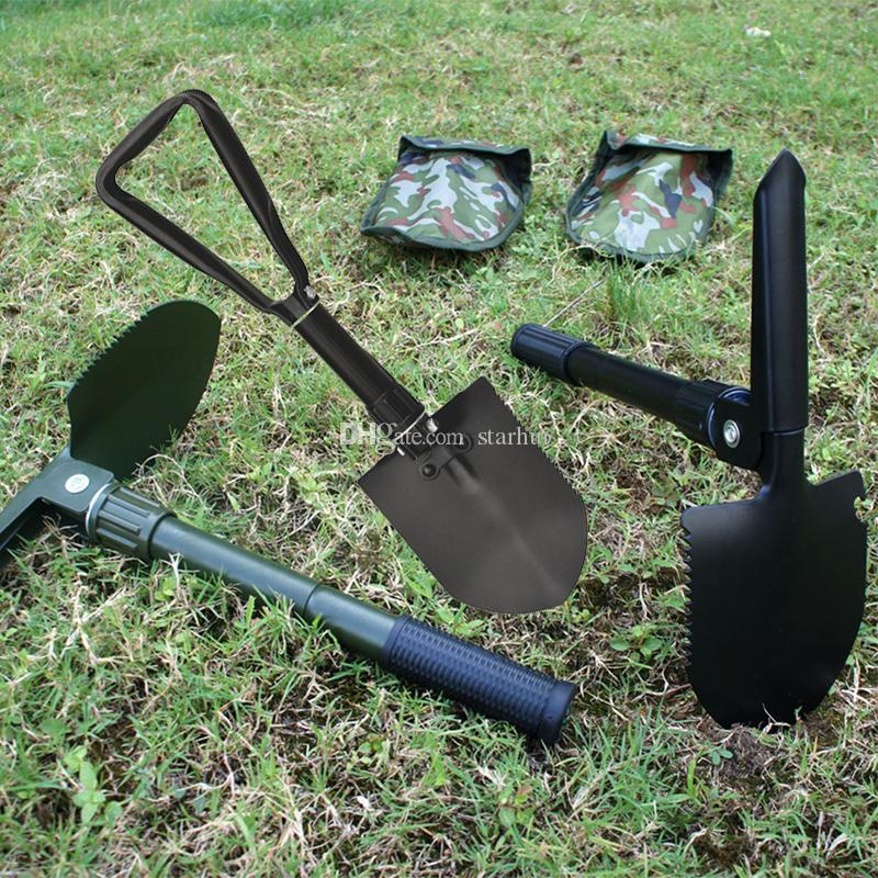 Folding Camping Shovel Survival Spade Trowel Dibble Pick Emergency Garden Outdoor Tool for Camping Hiking Backpacking Fishing Tool WX9-798