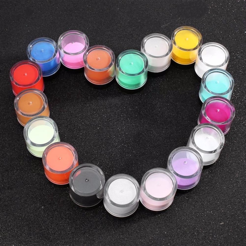 18pcs Nail Art Aracı Takımı Akrilik UV Toz Toz mücevher Lehçe Tırnak Araçlar, Akrilik parıltı Toz Oluşturucu Sanat Seti Süsleri Sıcak