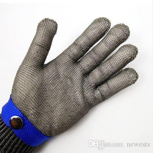 سلامة قص الطعنة والدليل على الفولاذ المقاوم للصدأ شبكة معدنية جزار قفاز الحجم XL عالية الأداء حماية المستوى 5