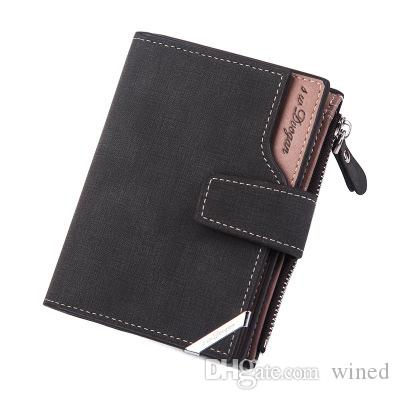 New Fashion Casual Driver's License Men's Leather Wallet 3 Color Designs Business Card Holders Pocket Wallets Multi-Function Mini Wallets