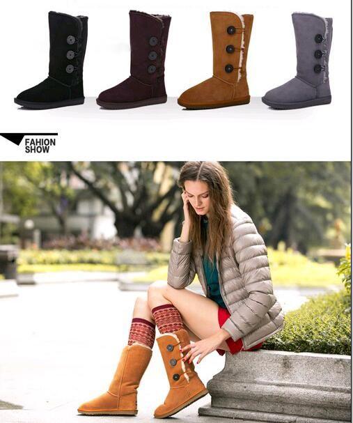 Livraison gratuite 2018 haute qualité WGG femmes classiques bottes hautes woemns bottes de neige bottes en cuir d'hiver
