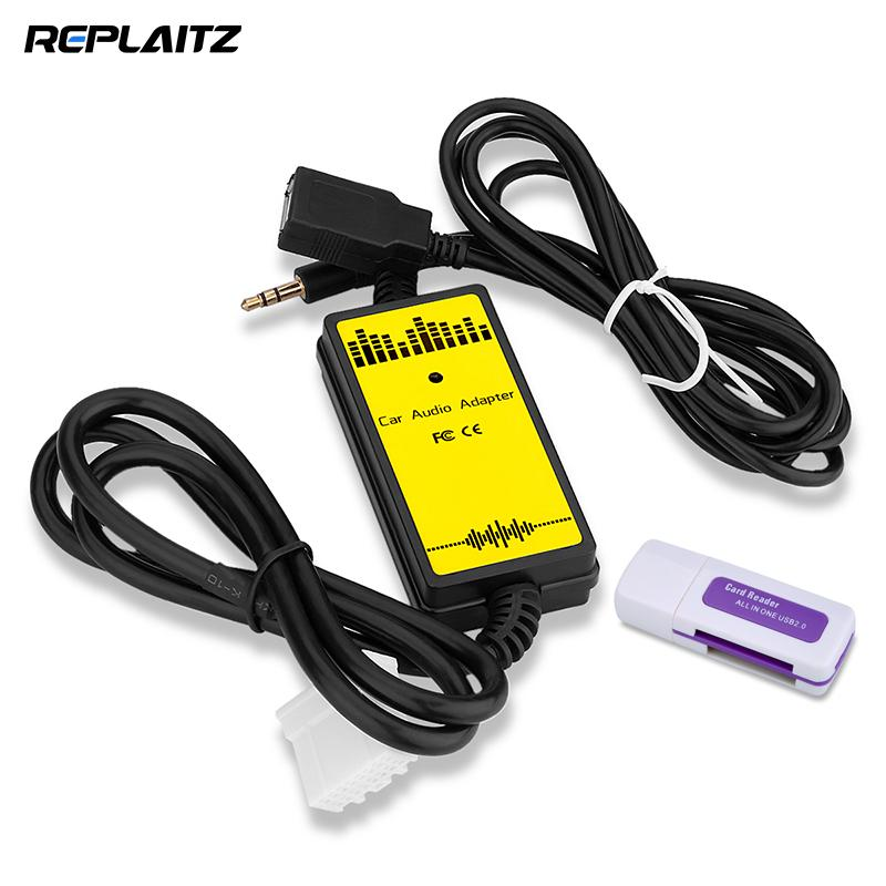 Car Adapter Auto Audio MP3 Player USB AUX 3.5mm Interface Cable MP3/WMA Decoder Vehicle Audio Virtual CD Changer for Mazda 3 6