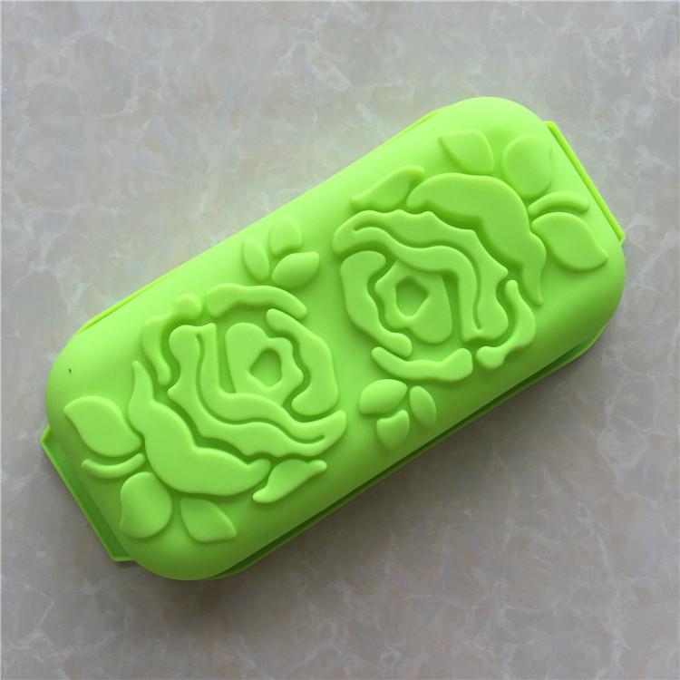 XIBAO 1 шт. розы тост коробка торт плесень DIY силиконовые антипригарным кекс торт Пан шоколад плесень выпечки Пан