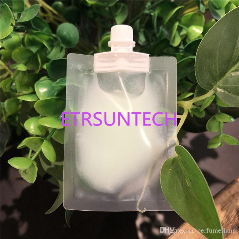 Bolsa de empaquetado de la loción de la crema de Translucence de la bolsa plástica líquida del canalón de la muestra 5ml para el sorteo superior QW8066 del maquillaje cosmético