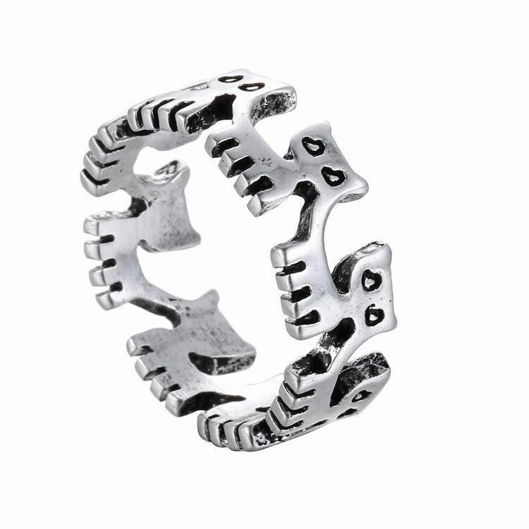 XH Small Commodity Wholesale Fashion Cat Accessories Creative Tide Opening Ring Men and Women Couples
