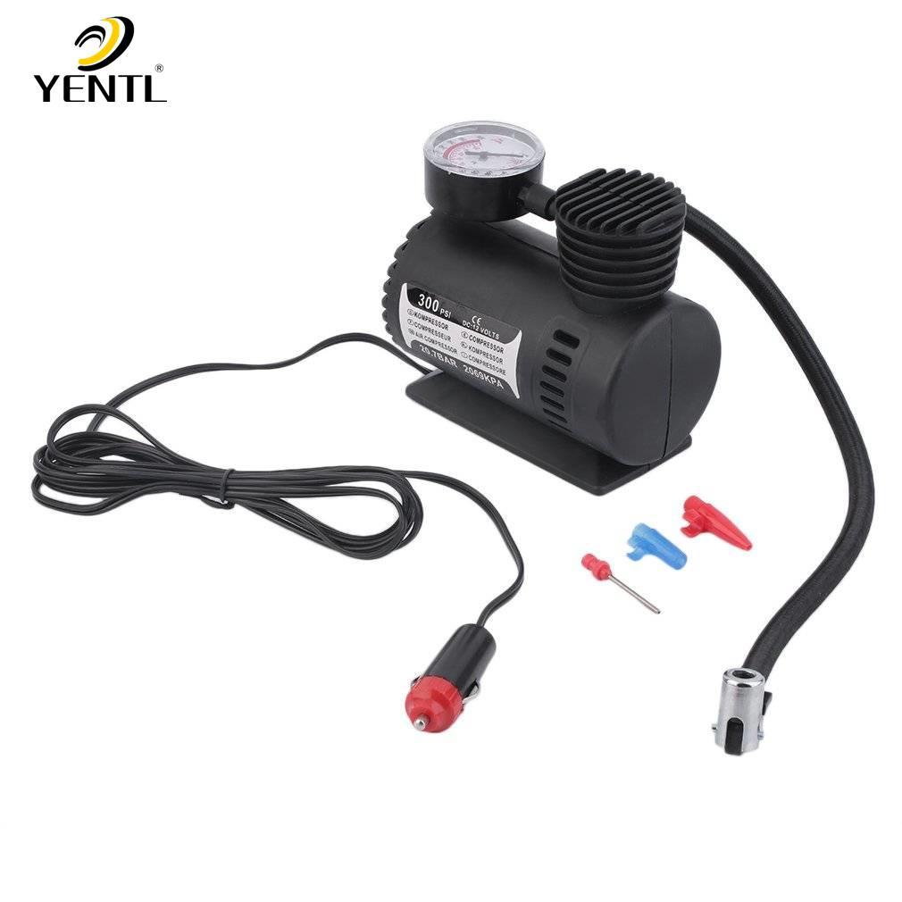 12V Compresseur dair de voiture portatif Pompe de gonflage de pneu automatique /électrique sans fil de v/élo de voiture