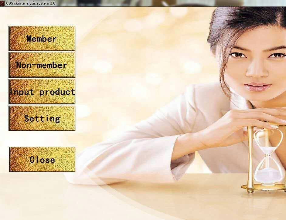 Dispositivo de análisis de humedad Analizador uv Detector digital de humedad de la piel con pantalla táctil para el sistema de diagnóstico de la piel salón de belleza uso del spa