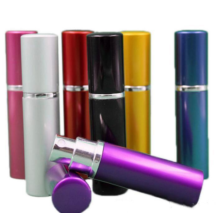Bottiglia di profumo da 5 ml Alluminio Anodizzato Compact Profumo Atomizzatore fragranza vetro-profumo viaggio spray spray per il trucco riutilizzabile