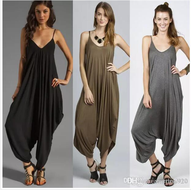 New Hot sale summer style women jumpsuit Hip-Hop Harem Pants for female romper overalls comfortable macacao sexy jumpsuit
