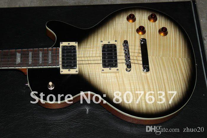 주문 상점 슬래시 시그니처 Chibson 일렉트릭 기타, 고품질 솔리드 마호가니 기타, 실제 사진 무료 배송