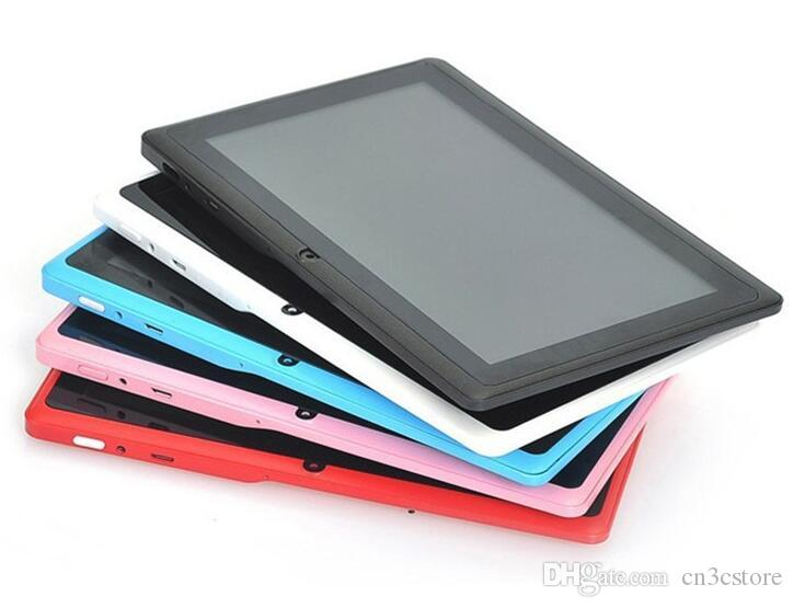 Dual Camera Q88 100X A33 Quad Core Tablet PC 7 Inch 512MB 8GB Android 4.4 kitkat Wifi Allwinner Colorful MID cheapest C-7PB