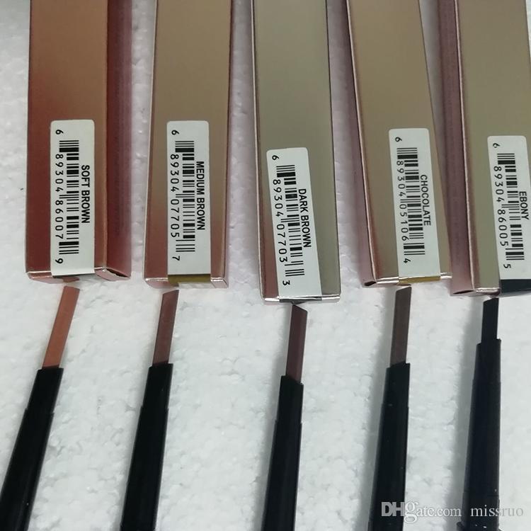 Maquillaje caliente Lápiz de doble ceja BROW PENCIL ebony / DARK BROWN / MEDIUM BROWN / chocolate DHL Envío gratis