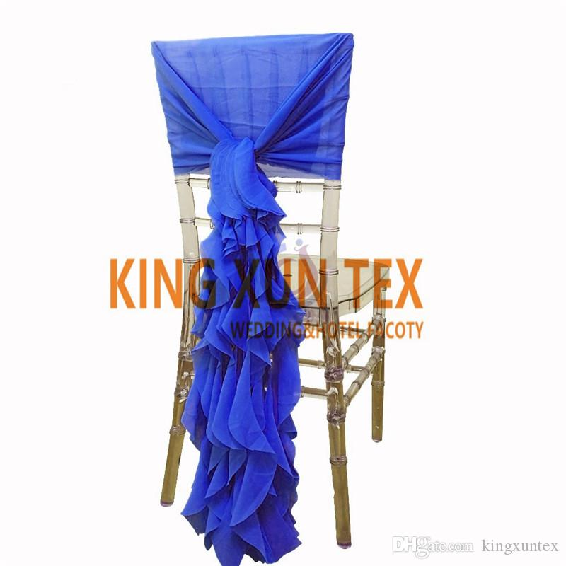 100pcs Lot Cheap Chiffon Chiavari Chair Cover With Wickle Chair Sash For Wedding Event Decoration