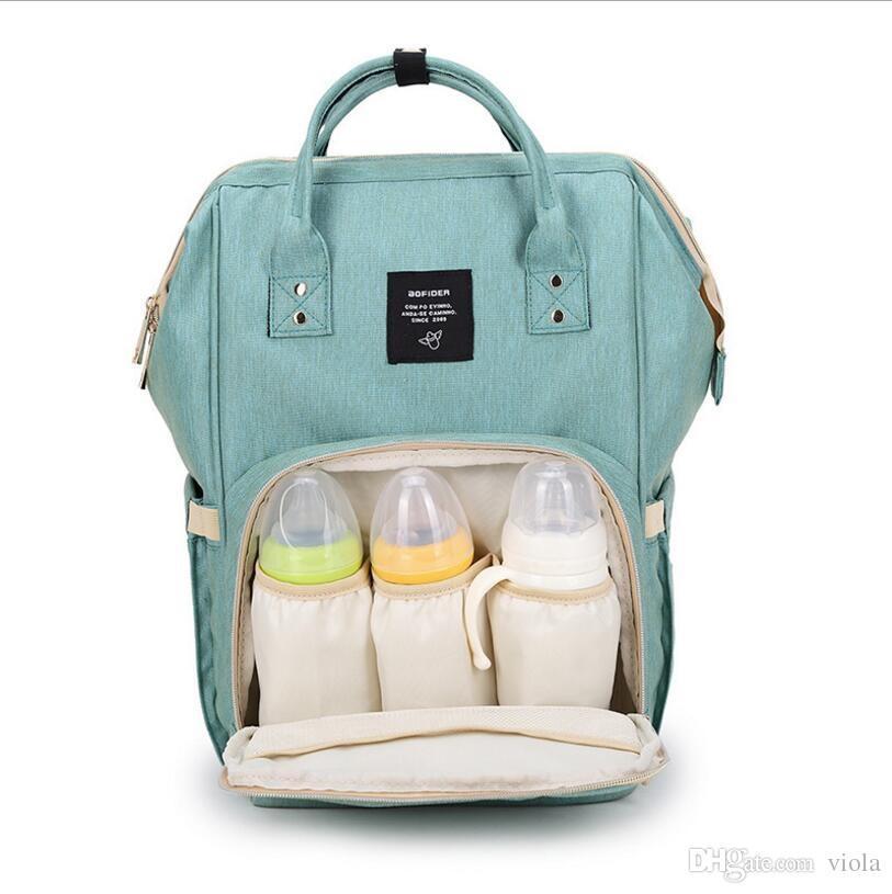 Yüksek Kaliteli Bezi Çanta Anne Sırt Çantası Sırt Çantası Moda Anne Annelik Sırt Çantaları Açık Desinger Hemşirelik Seyahat Çantaları Organizatör