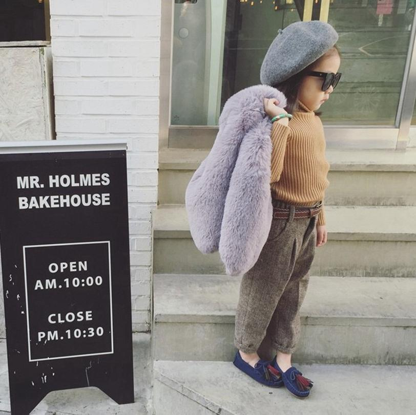 lovely Baby Fur Vest Rabbit Fur Coat Kids Warm Children waistcoat winter Wool Coat Mix Order Factory Cost wholesale