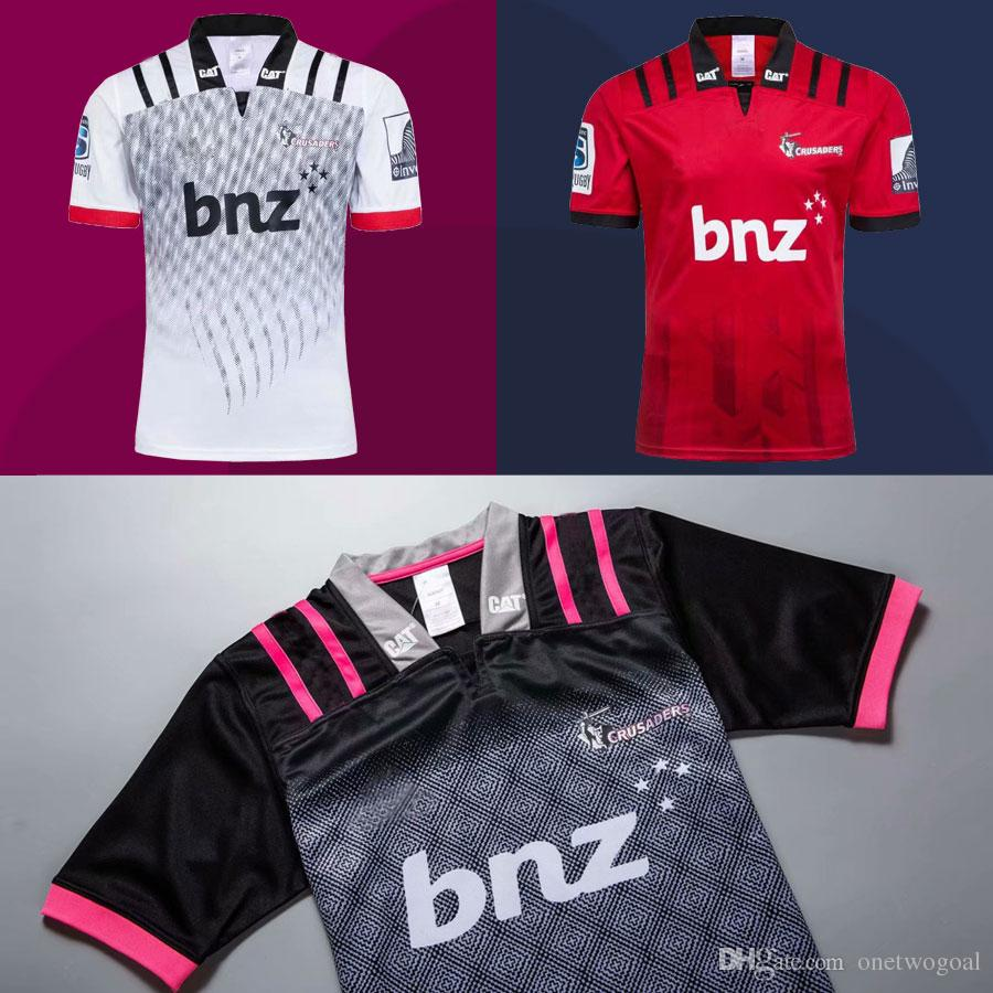 a8d32f54065 New 2018 Super Crusaders Rugby Jerseys 2019 NRL Home and Away Jeresy New  Zealand Crusader Shirts Super Rugby League Tops High Quality