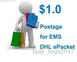 Postage for DHL EMS China post epacket Free Shipping Payment Link women bags new