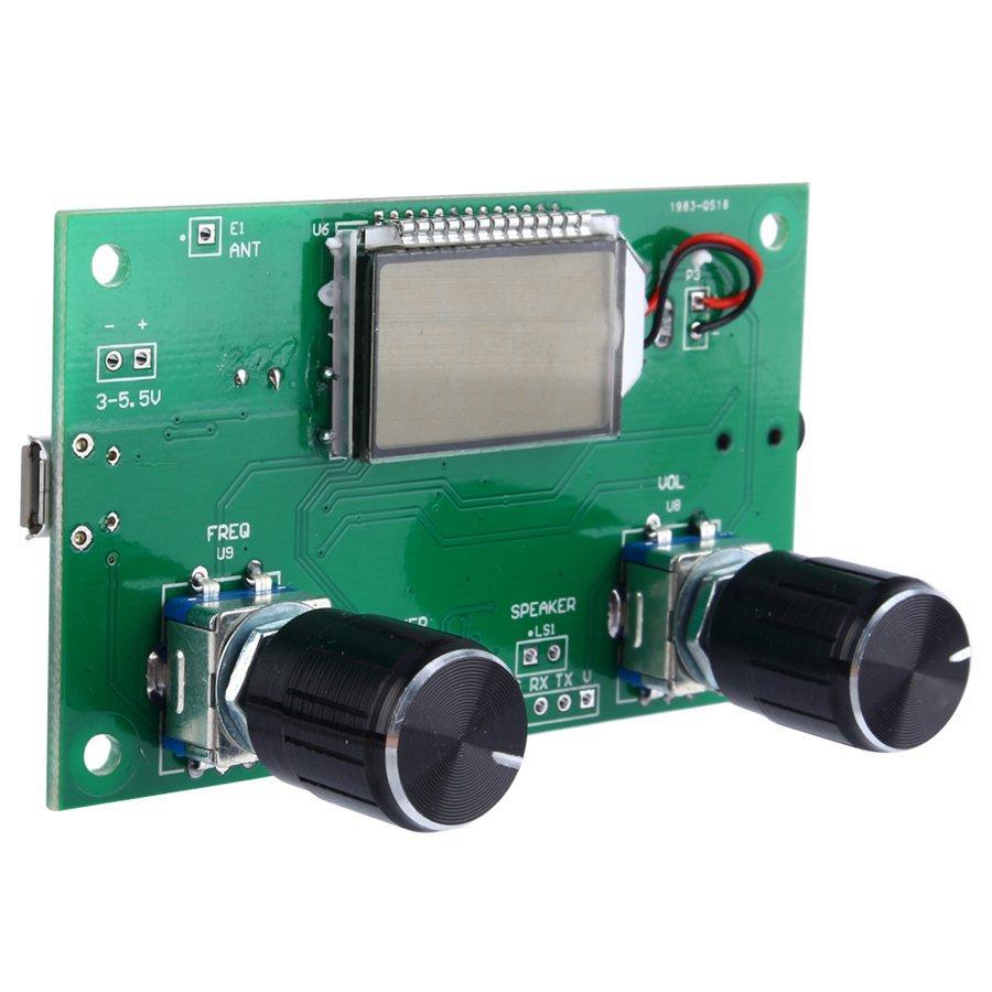 Freeshipping DSP PLL Dijital Stereo FM Radyo Alıcı Modülü 87-108 MHz Seri Kontrol Frekans Aralığı 50Hz-18 KHz Ile Ücretsiz Kargo
