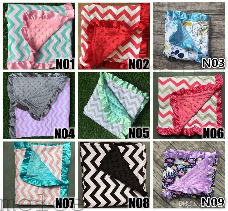 Kleinkinder Baby Chevron Minky Decke stricken, Dusche Geschenk Baby Baumwolle Decke Minky Dot, Nerz Baby super weiche Decke