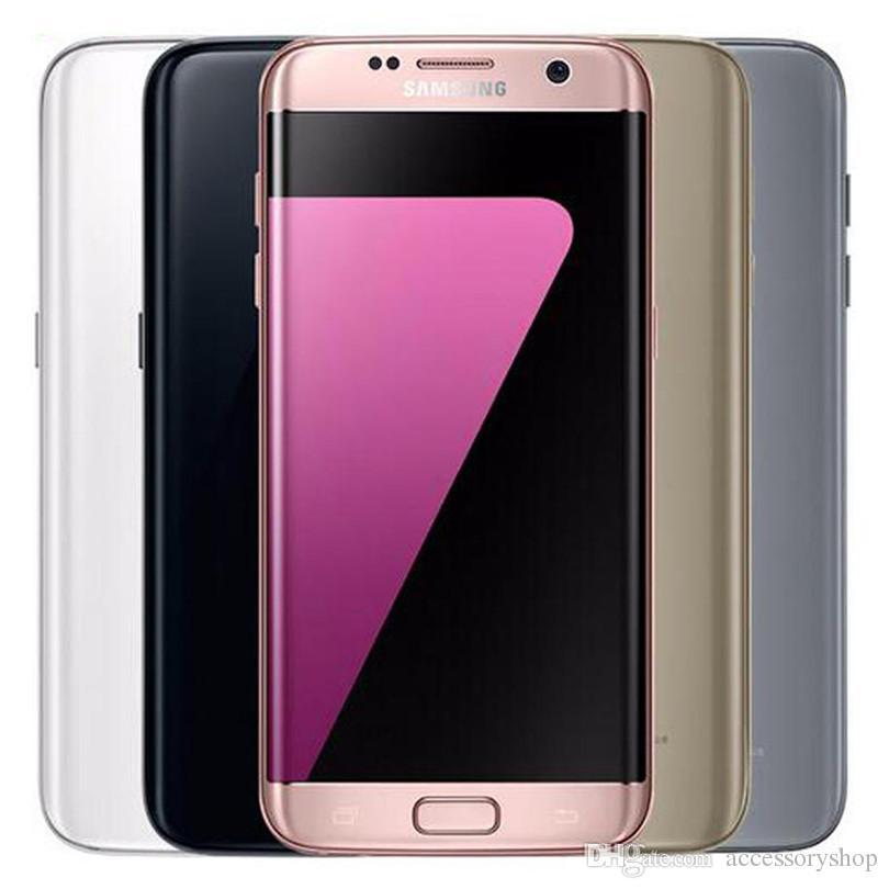 Original Samsung Galaxy S7 Edge Refurbished G935F G935A G935T G935V G935P 5.5 inch Quad Core 4GB RAM 32GB ROM 4G LTE Mobile Phone DHL 10pcs