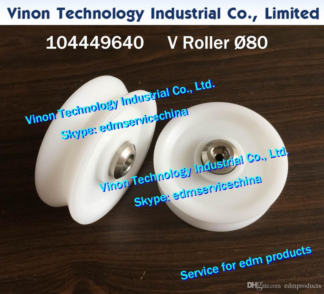 104449640 edm V-Roller Ø80mm, edm 1 V Roller d=80mm 444.964.0 for ROBOFIL 240,290,300,440,640 wirecut edm machine wear parts 104.449.640