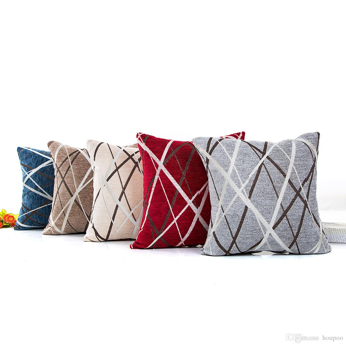 Awesome Bulk Laser Line 42 42Cm Polyster Household Pillow Cushion Covers Bedroom Set Christmas Gifts Home Decor Party Decoration Lounge Chair Pads Outdoor Creativecarmelina Interior Chair Design Creativecarmelinacom