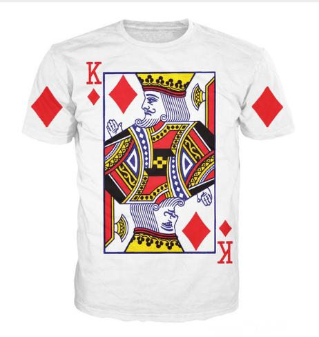 New Arrive King of Diamonds T-Shirt Sexy Tee Shirts Funny Playing Card T Shirt Vibrant Tee Sexy Casual Tshirt for Women Men S-XXXXXXXL U502