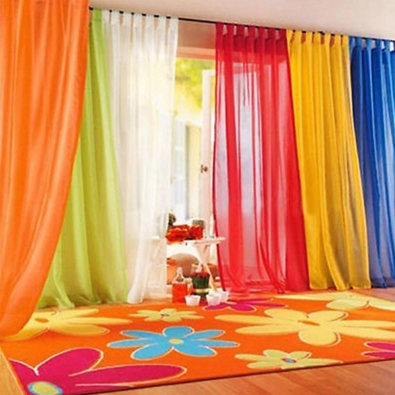 Elegante romantische Schlafzimmer Made Finished Organza Kind Fenster Cortina Vorhang für Wohnzimmer Hochzeit Home Decor Gardinen 2 teile / satz