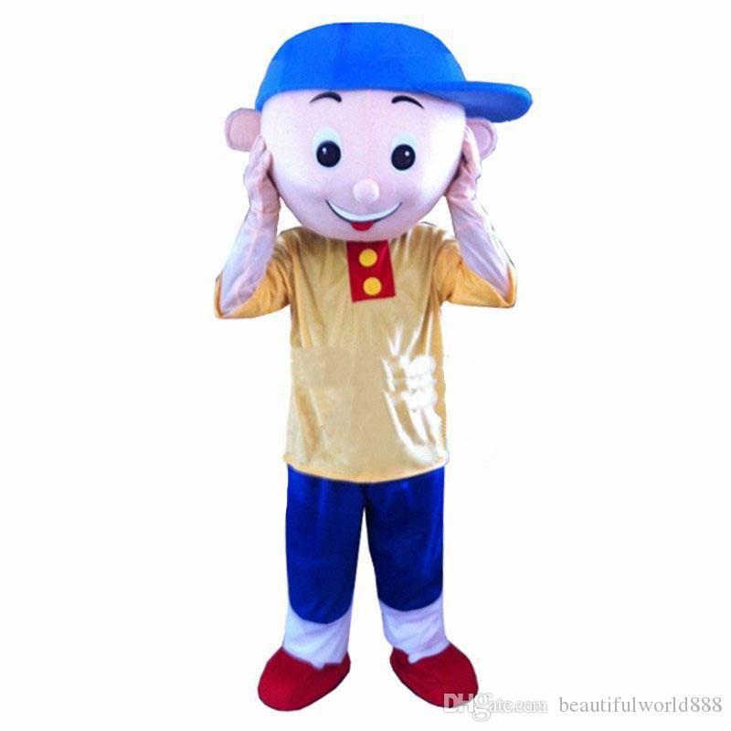 2018 High quality hot Cailou Mascot Costume Cartoon Fancy Dress Adult size Free Shipping