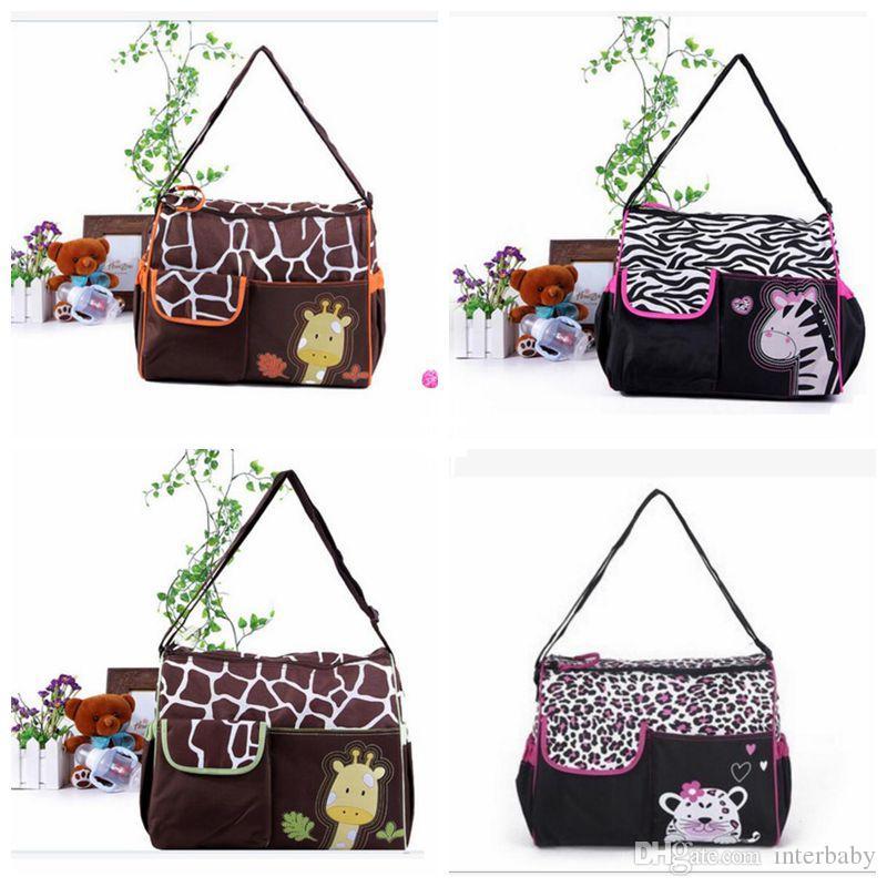 Пакетные сумки Baby Zebra Bags Sumpape Mummy Сумка Мода Водонепроницаемый Многофункциональный Babyboom Жираф Сумка LD23 Плечо Мультфильм KKFHD