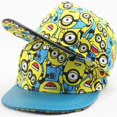 Minions Baseball Cap Boys Girls Kids Snapback Cap Summer Hat