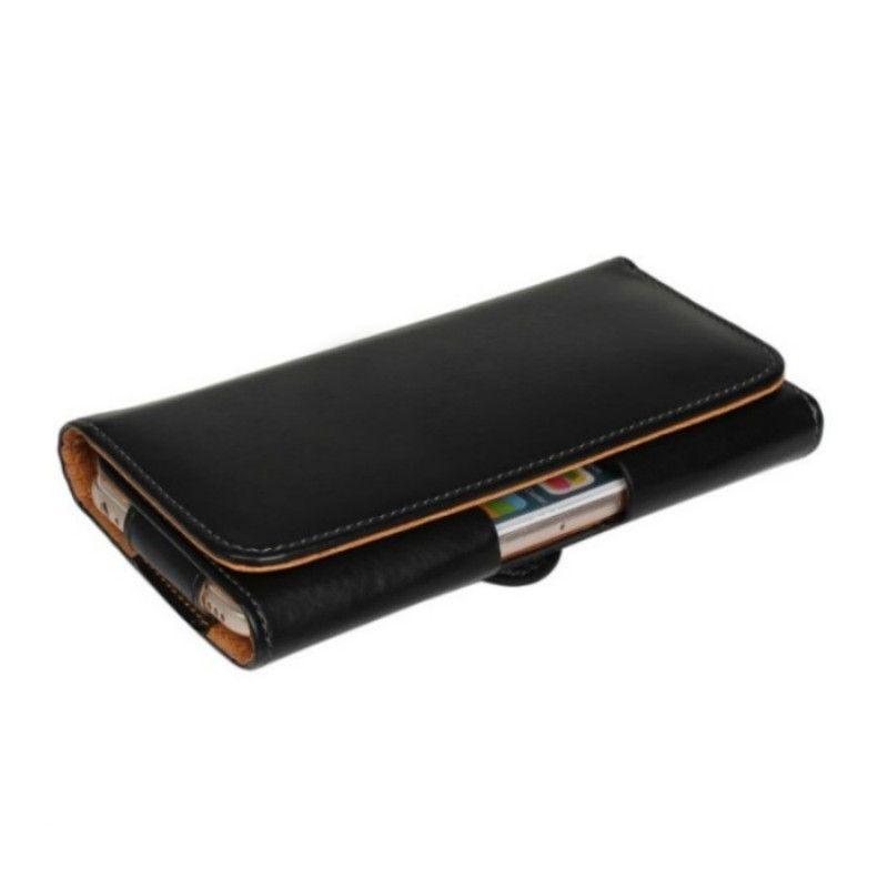 Cinto Universal Clipe de Couro PU Cintura Titular Bolsa Flip Case para Oukitel C12 Pro / Mix 2 / U22 / K6000